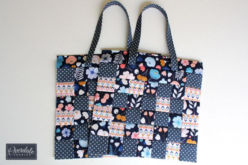 Two bag panels ready to be sewn to make a handbag.