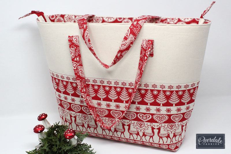 Handmade Christmas shopping bag.