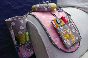 sewing caddy for a sofa.