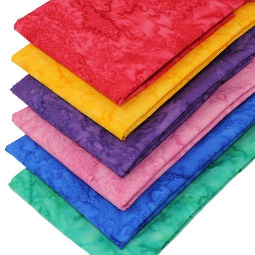 Jewel batik fat quarter fabrics