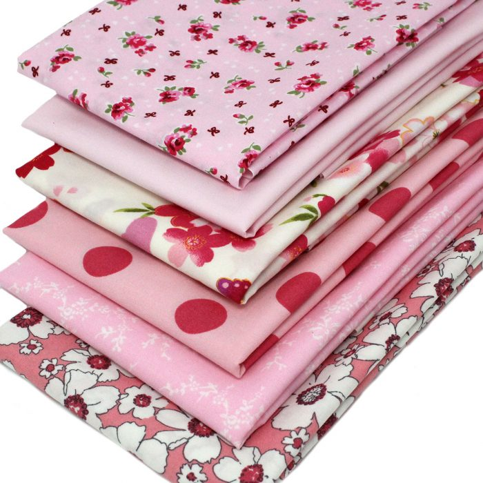 Pink fat quarters ideal for a stash builder.
