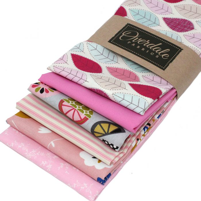Pink fat quarter pack.