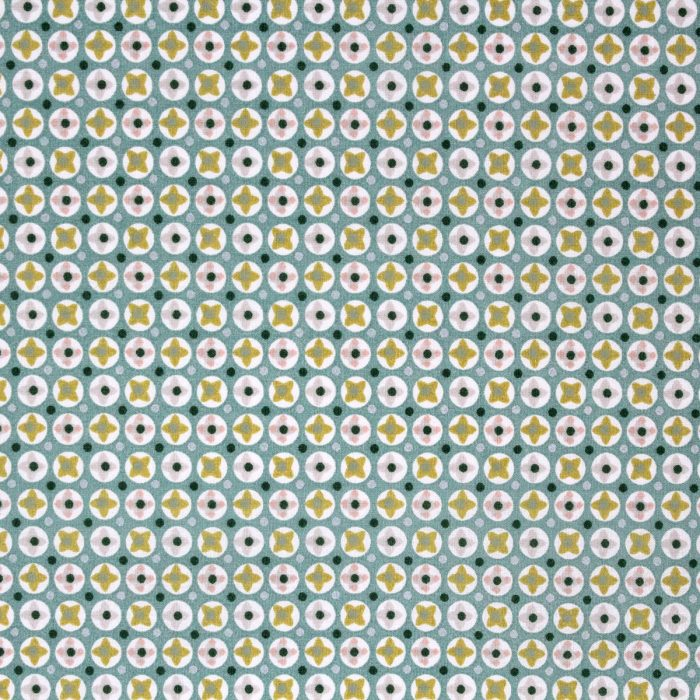 Sea pod fabric in shades of green.
