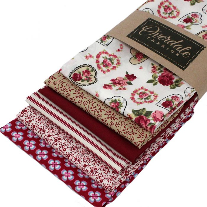 Red stash builder fat quarter pack.
