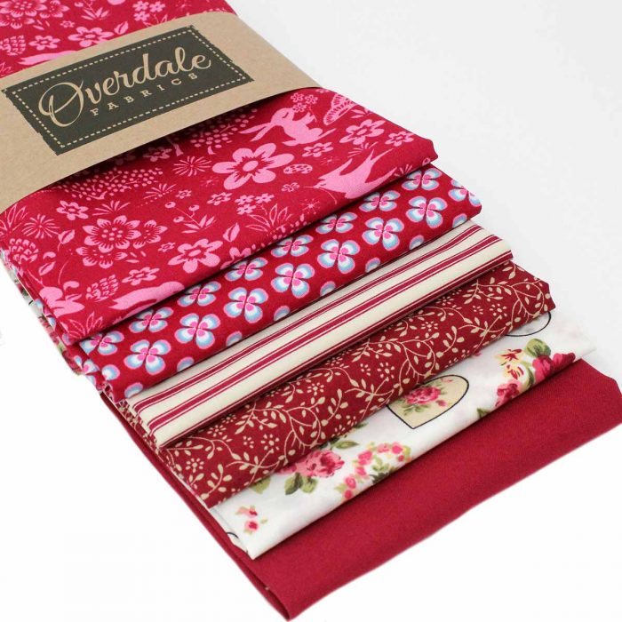 Red stash builder fat quarters.