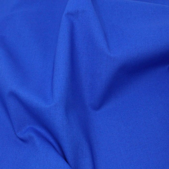 Plain solid blue fabric.
