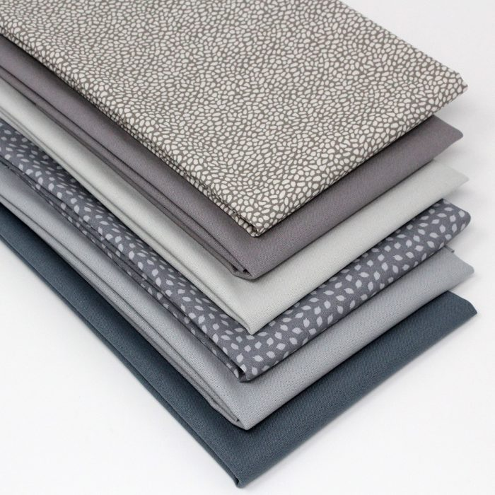 Grey fat quarter collection.