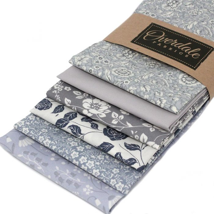 Fat quarter fabric in shades of grey.