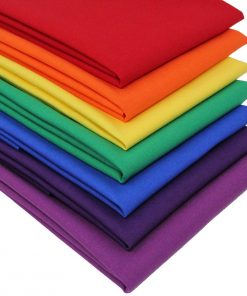 Rainbow fabric fat quarter pack.