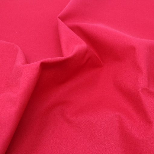 Plain red fabric.