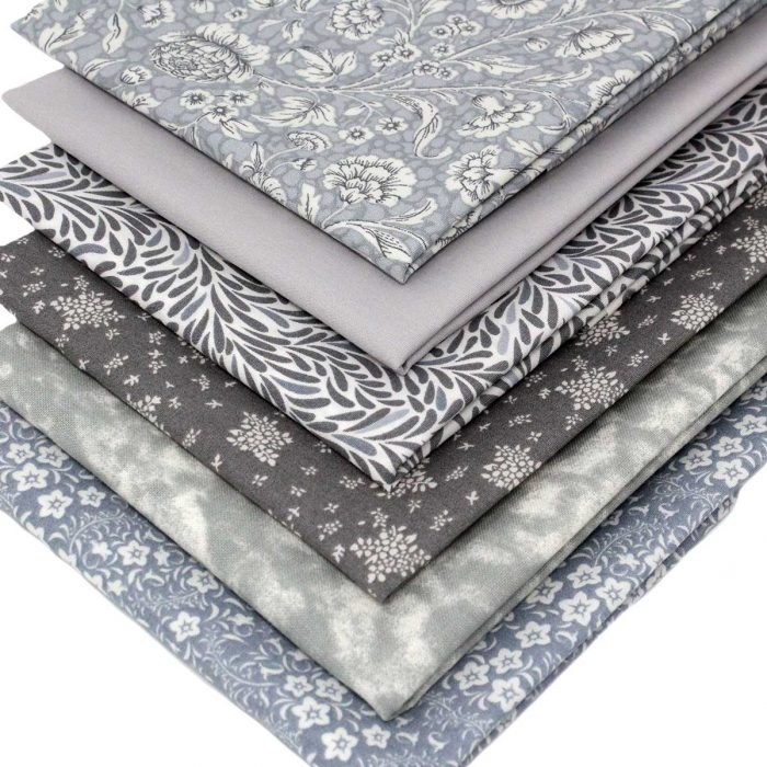 Shades of grey fat quarters.