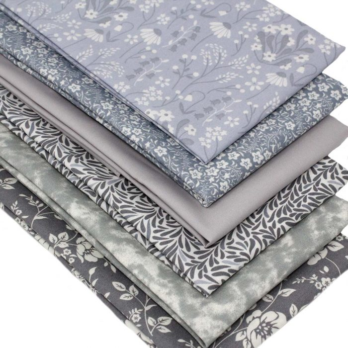 shades of grey fat quarter pack