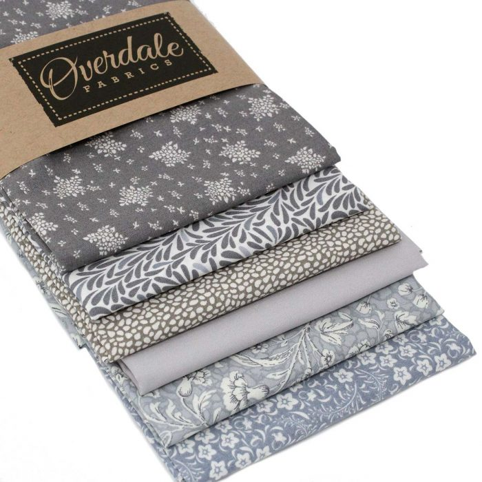 grey fabric fat quarter pack for quilting