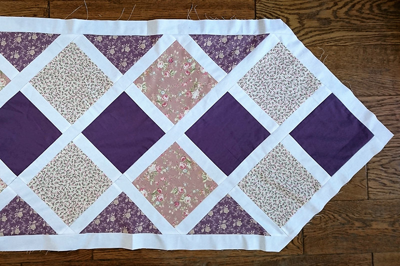 Making a quilted table runner.