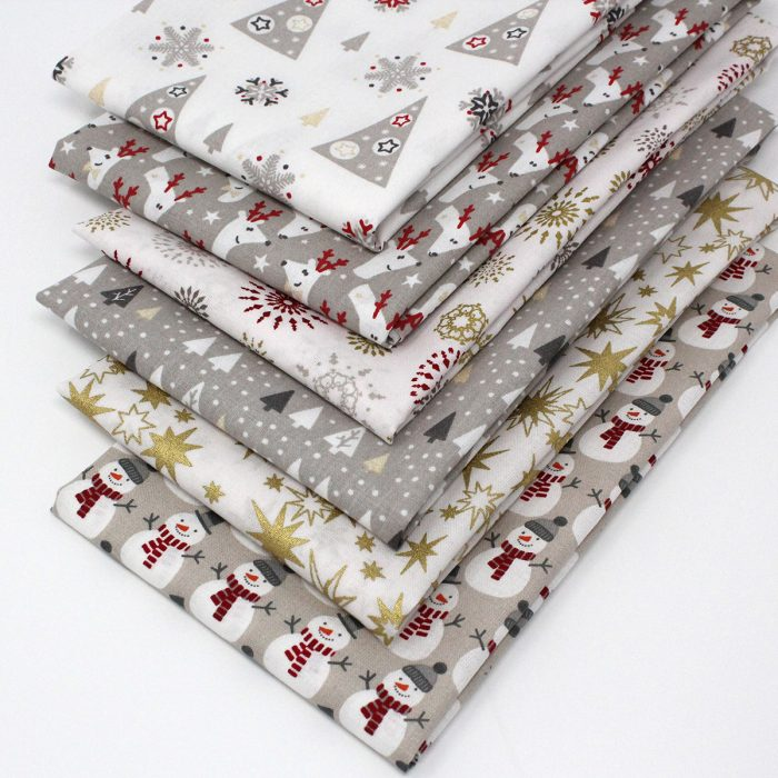 Jolly Christmas fat quarter fabric s.