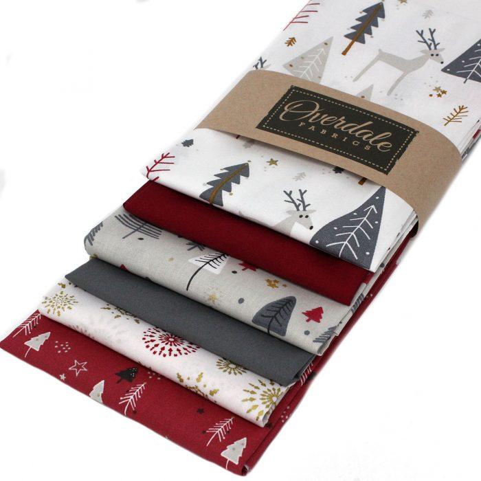 Jolly reindeer Christmas fabrics.