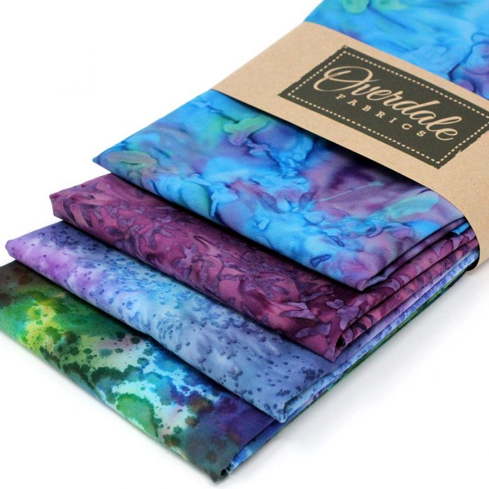 Blue lagoon batik fat quarter pack.