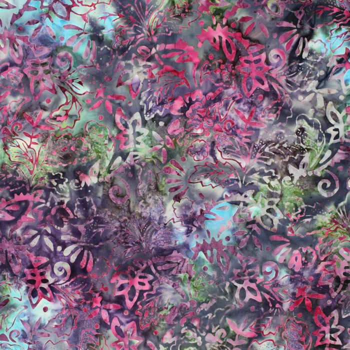 Deep purple and pink batik fabric.
