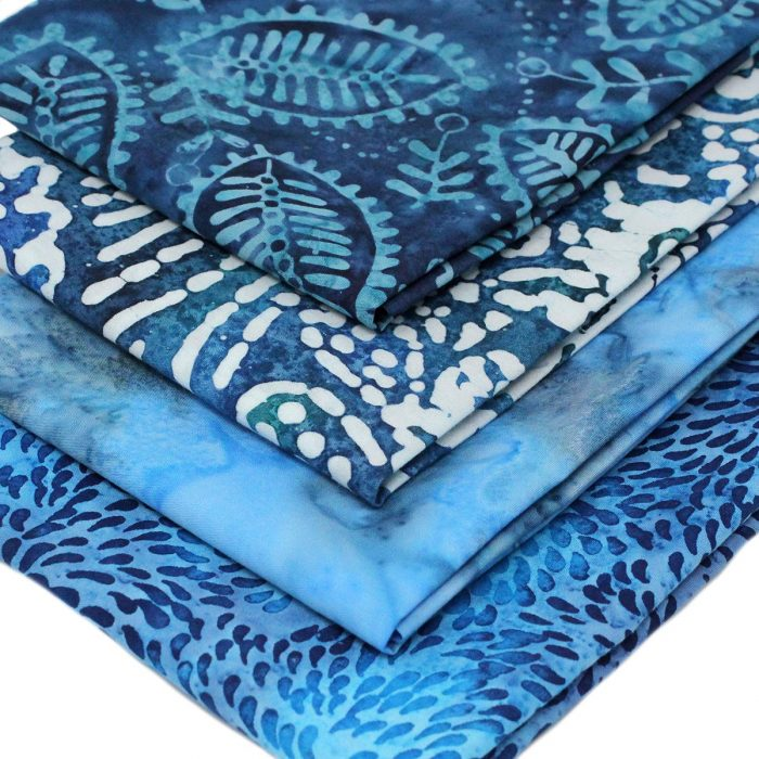 Blue batik fat quarters