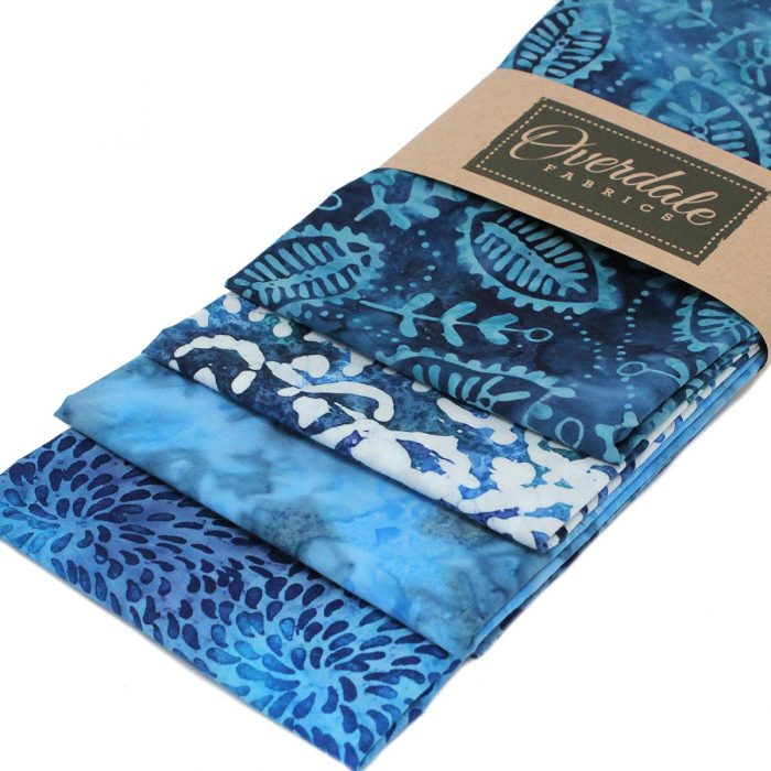 Ocean wave blue batiks