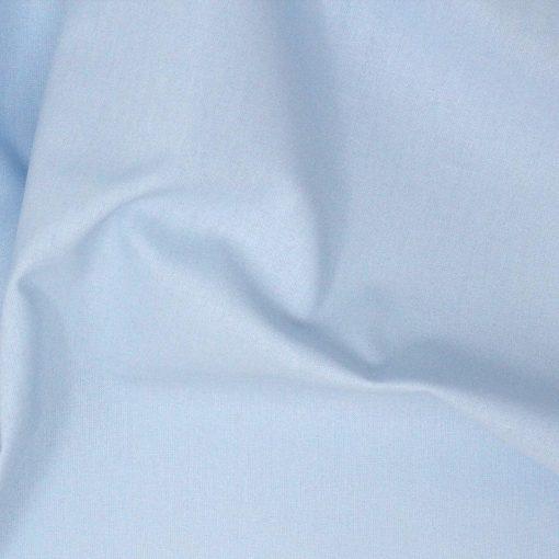 Pale blue plain solid fabric.