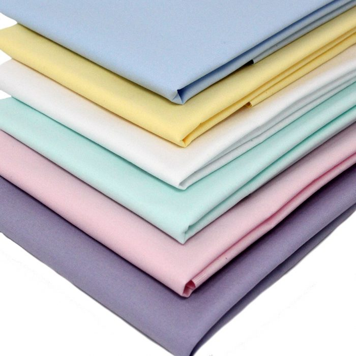 Pastel colours of fat quarters.