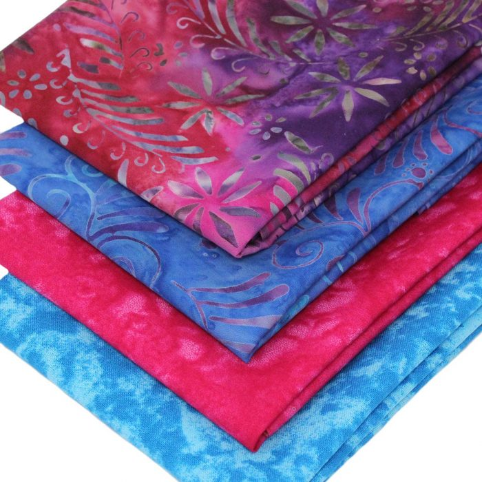 Tropical leaf fat quarter pack.