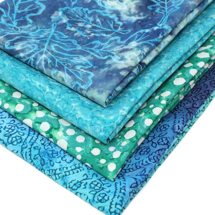 Blue and green batik bundle.