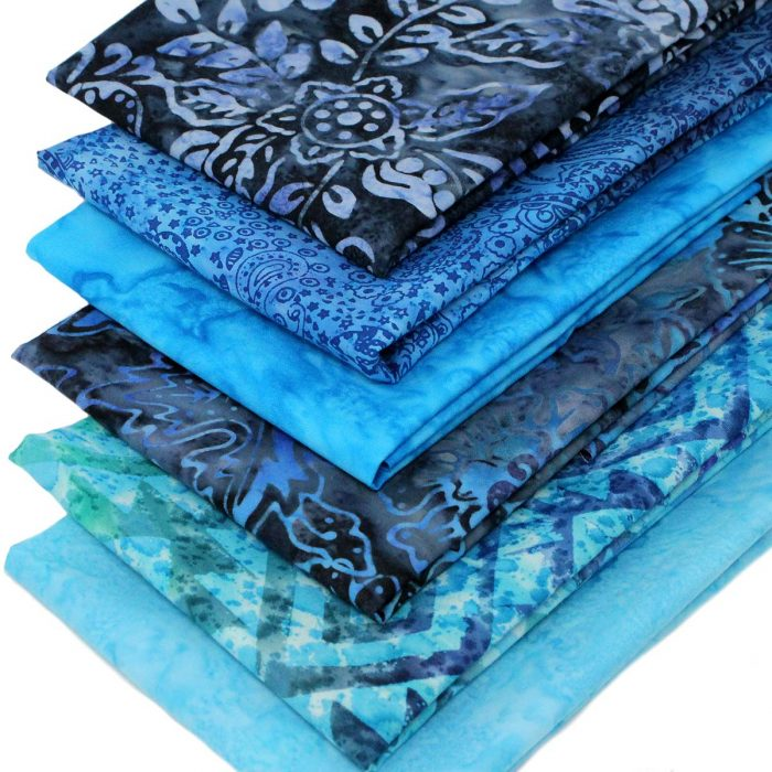 Blue batik fat quarters.