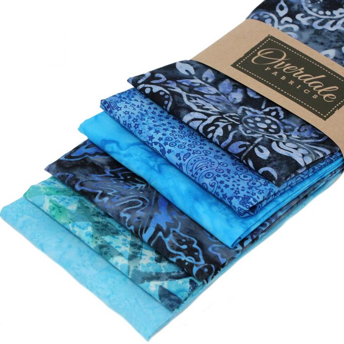 Blue batik fat quarter pack.
