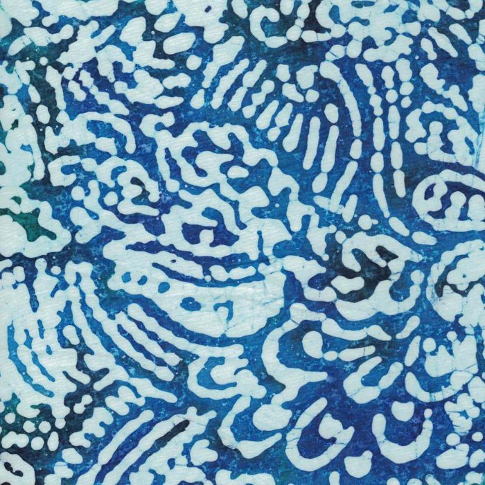 Blue wave batik fabric.