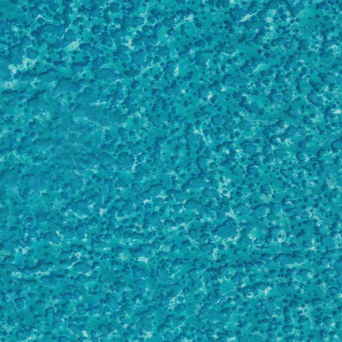 Turquoise blue batik fabric.