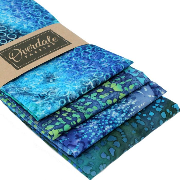 Green and blue fat quarter pack with a sea theme.