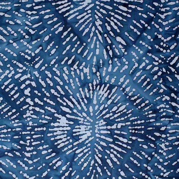 Deep blue and grey batik fabric.