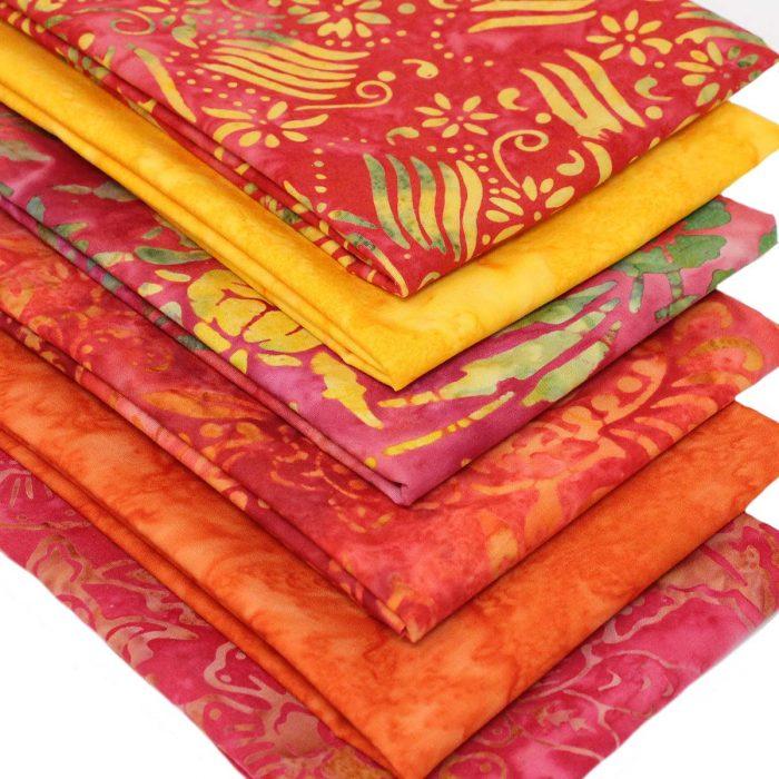 Jakarta sunset batik fabrics.