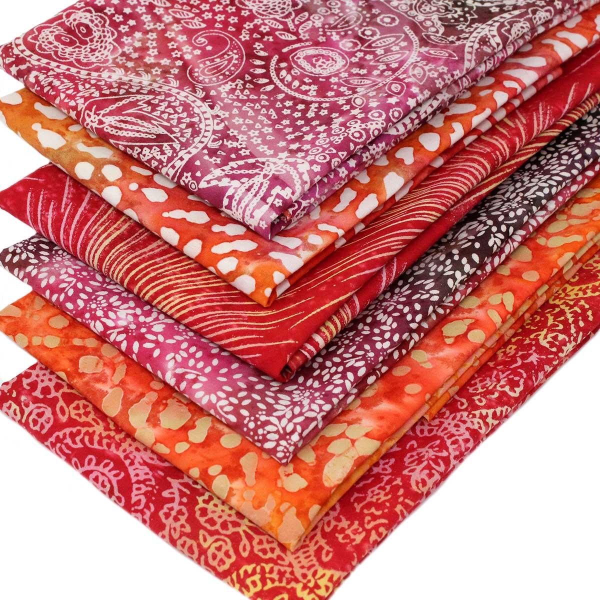 6 Fat Quarters Batik Bundle