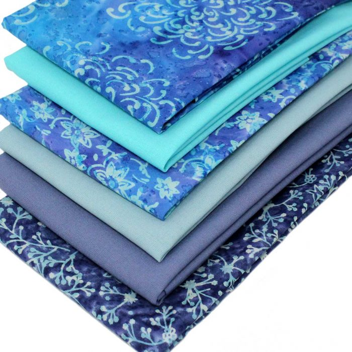 Steel blue and grey fat quarter pack.