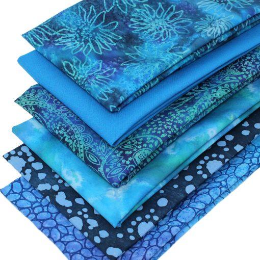 Blue batik fat quarters.