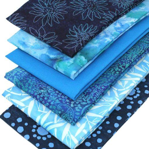 blue batik fat quarter pack.