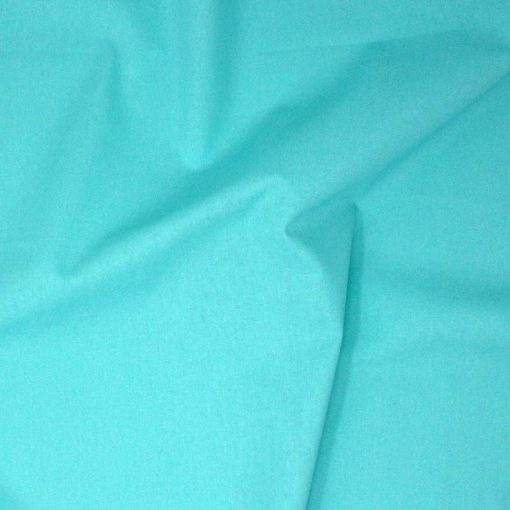 aqua blue plain solid fabric.