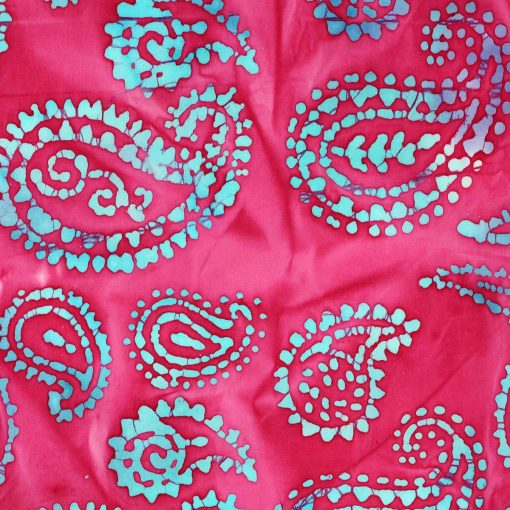 Pink and blue mandala batik fabric.