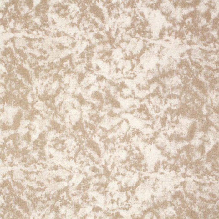 Mottled beige fabric.