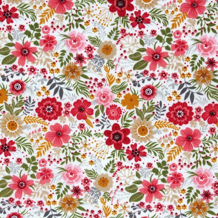 Floral print in red and pink.
