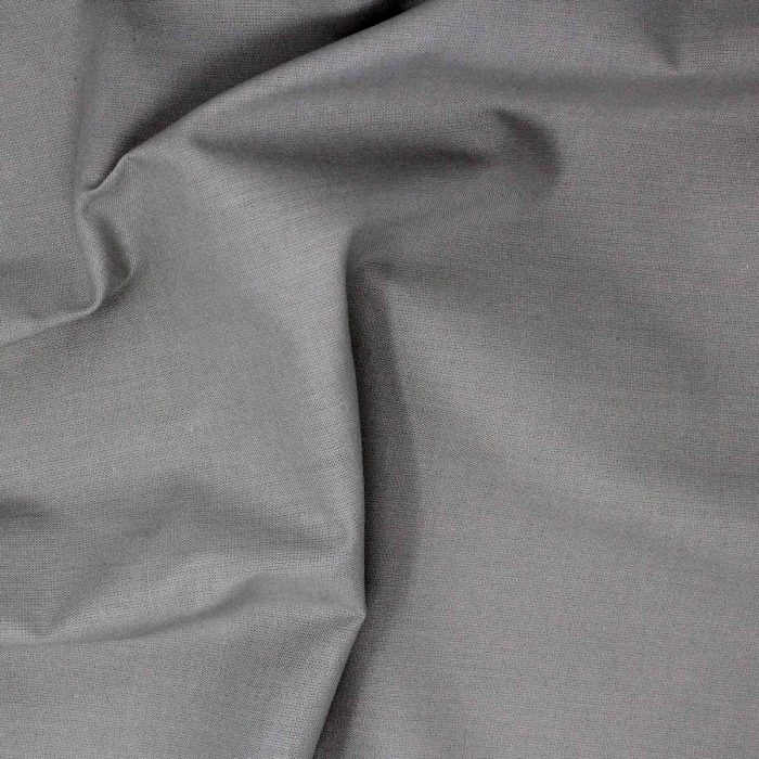 Plain grey fabric.