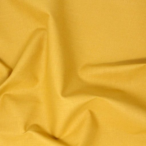 Solid plain fat quarter in mustard yellow.