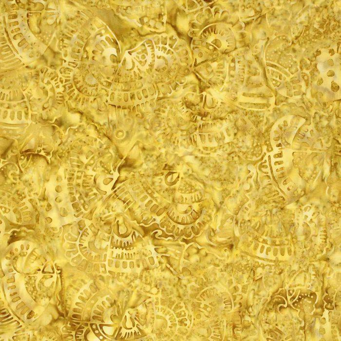 Golden yellow batik fabric.