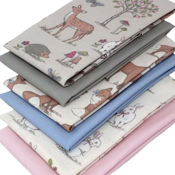 Fat quarter pack featuring woodland animals.