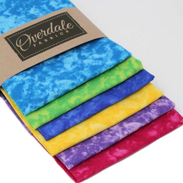 Vibrant mottled fat quarter pack.