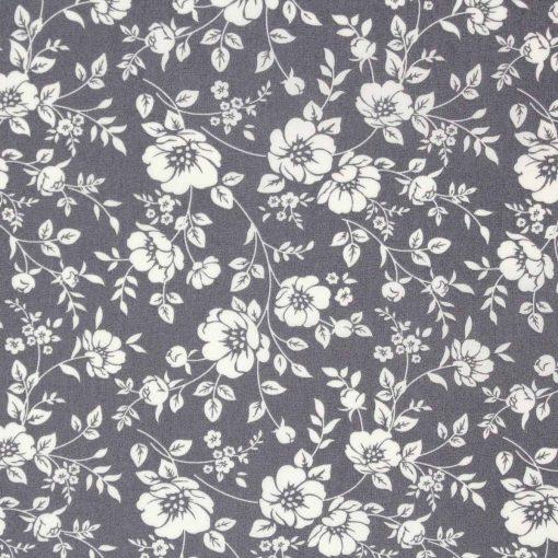 grey flower fabric