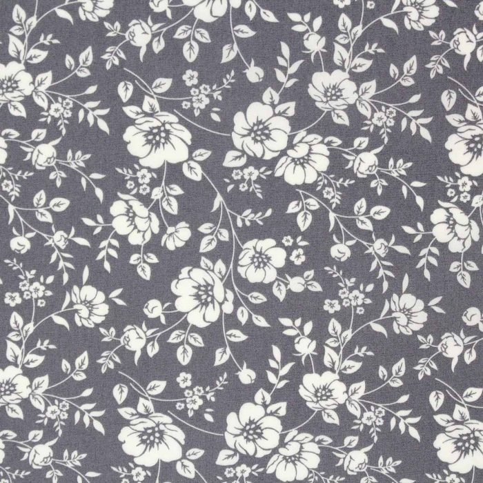 grey flower fabric